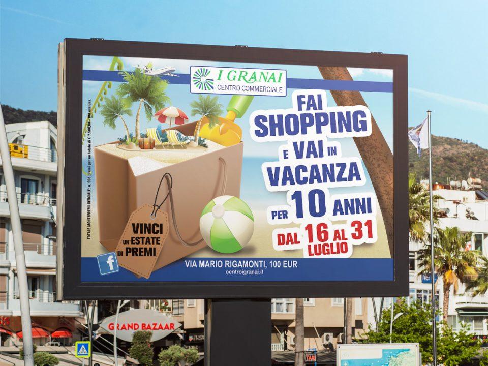 campagna affissioni centro commerciale i granai